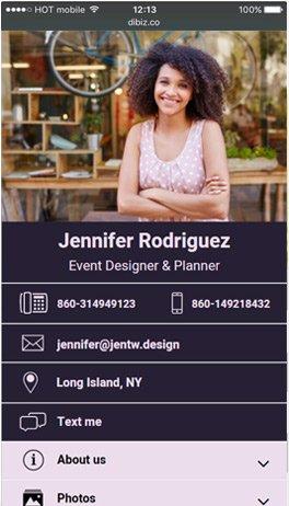 digital business card price